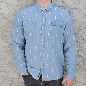 Mens Vans Long Sleeve Button Down Shirt